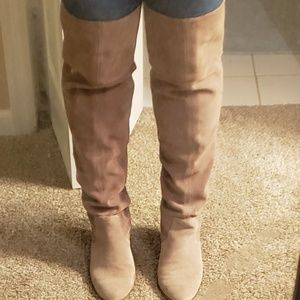 Jessica Simpson over the knee suede boots